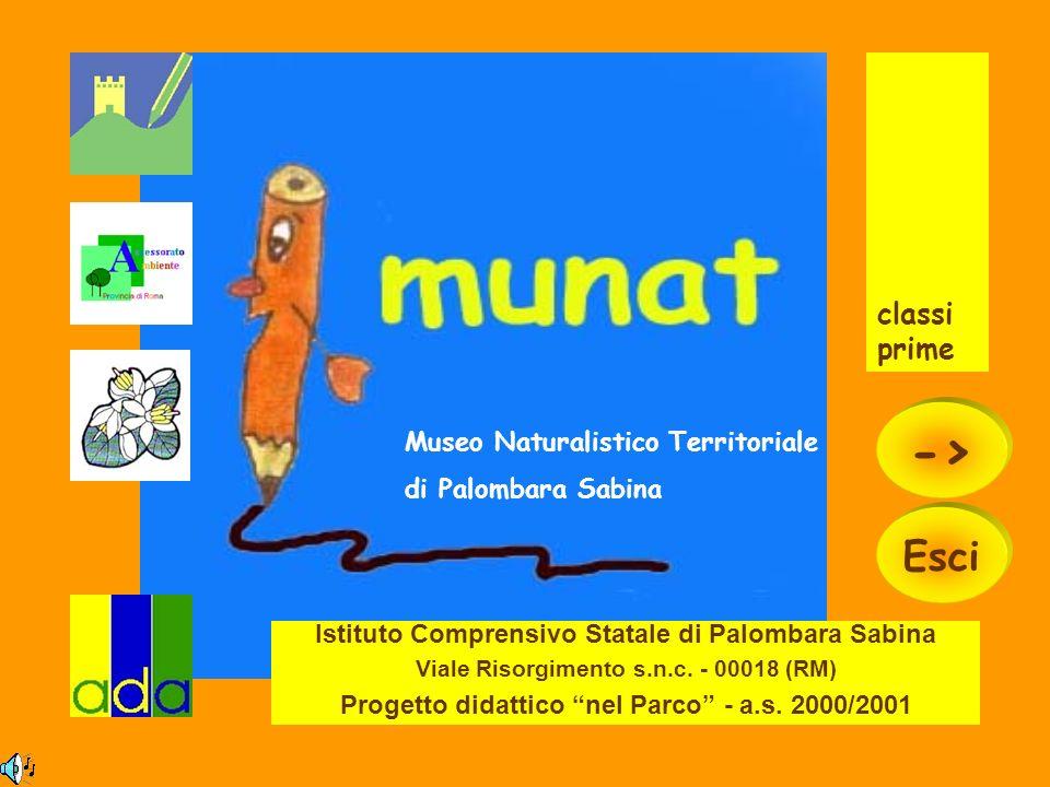 Istituto Comprensivo Statale di Palombara Sabina Viale Risorgimento s.n.c. - 00018 (RM) Progetto didattico nel Parco - a.s. 2000/2001 classi prime Mus