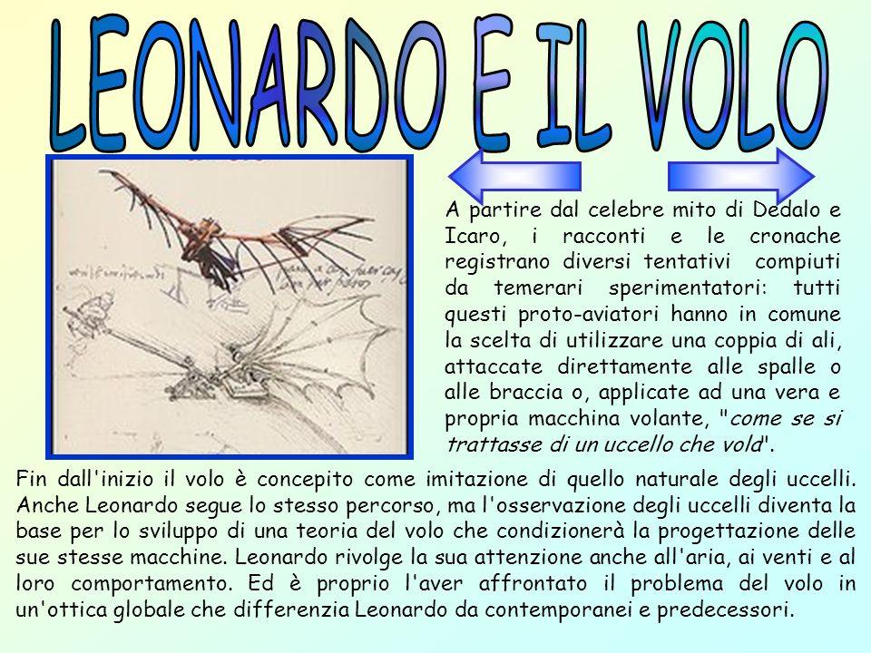 L interesse per il volo si manifesta in Leonardo intorno al 1482.