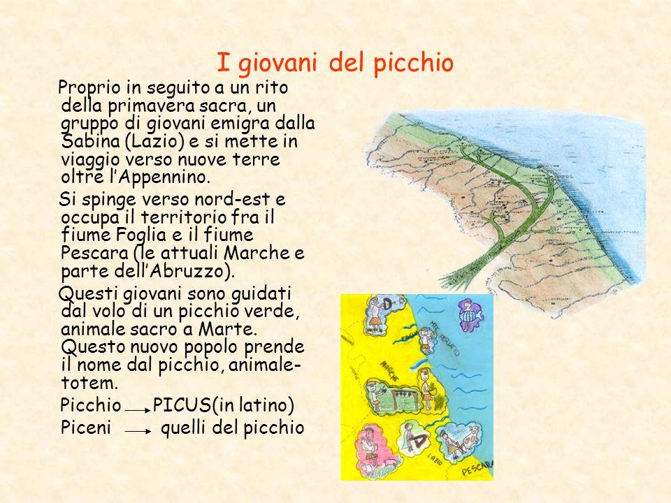 I giovani del picchio Proprio in seguito a un rito della primavera sacra, un gruppo di giovani emigra dalla Sabina (Lazio) e si mette in viaggio verso