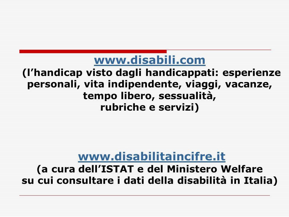 www.disabili.com (lhandicap visto dagli handicappati: esperienze personali, vita indipendente, viaggi, vacanze, tempo libero, sessualità, rubriche e s