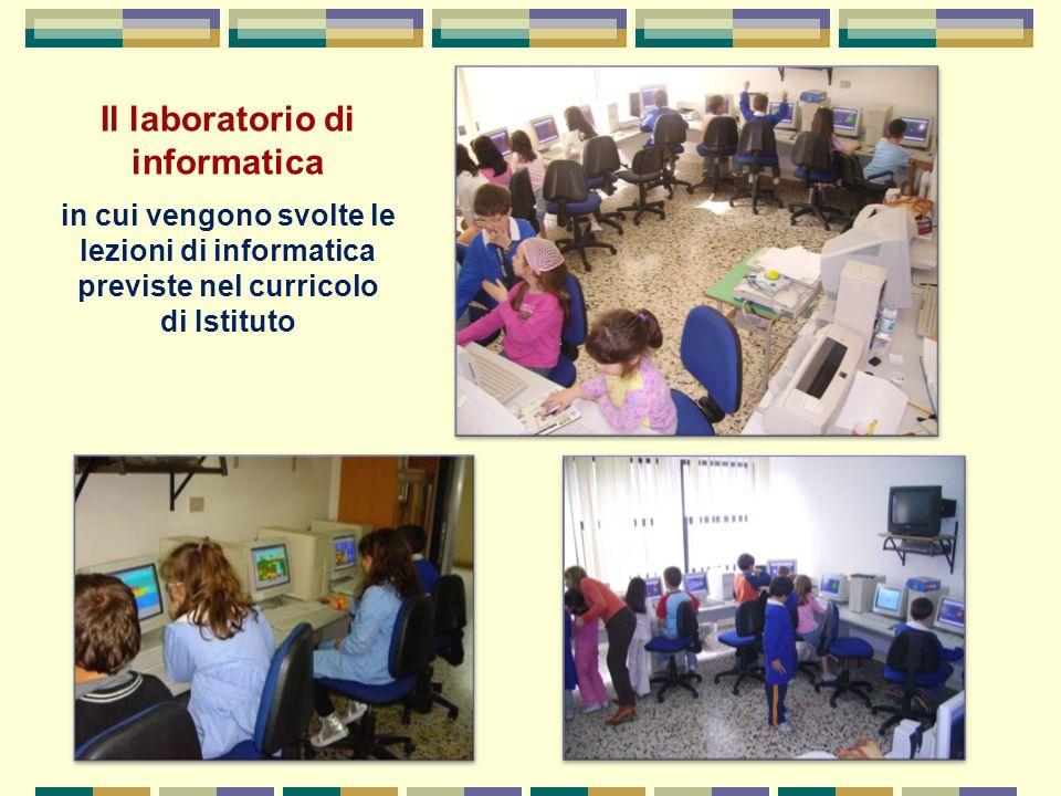 Il laboratorio di informatica in cui vengono svolte le lezioni di informatica previste nel curricolo di Istituto