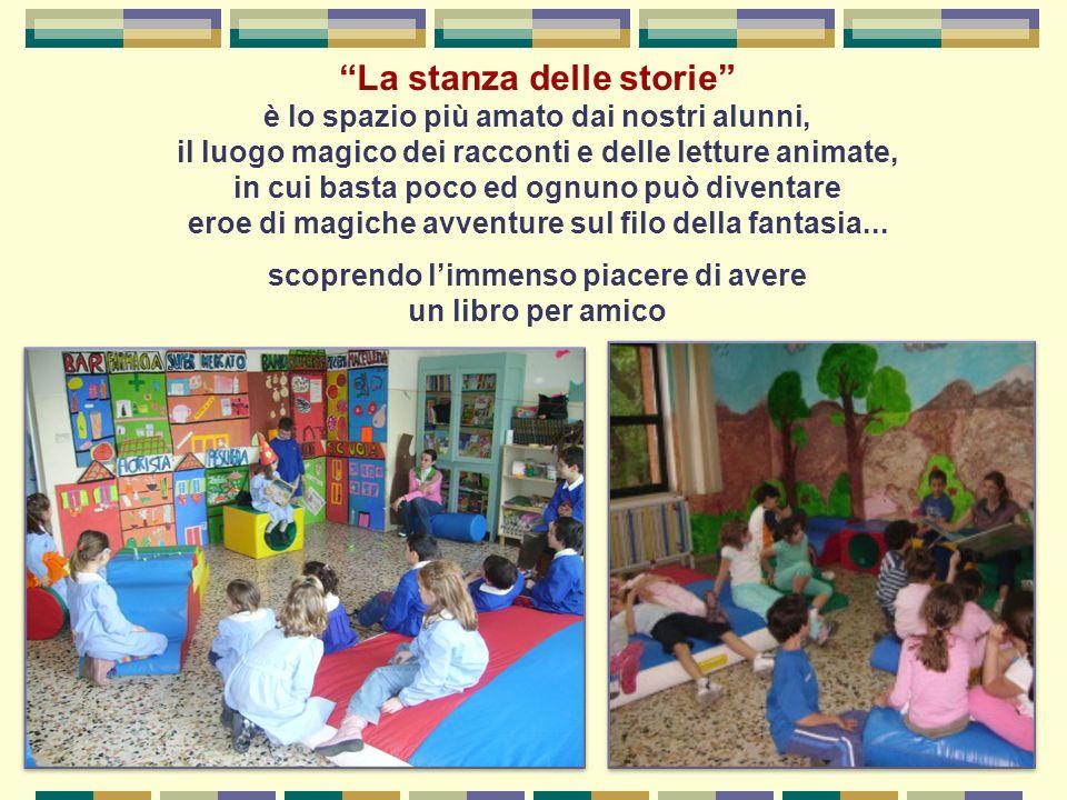 La stanza delle storie è lo spazio più amato dai nostri alunni, il luogo magico dei racconti e delle letture animate, in cui basta poco ed ognuno può
