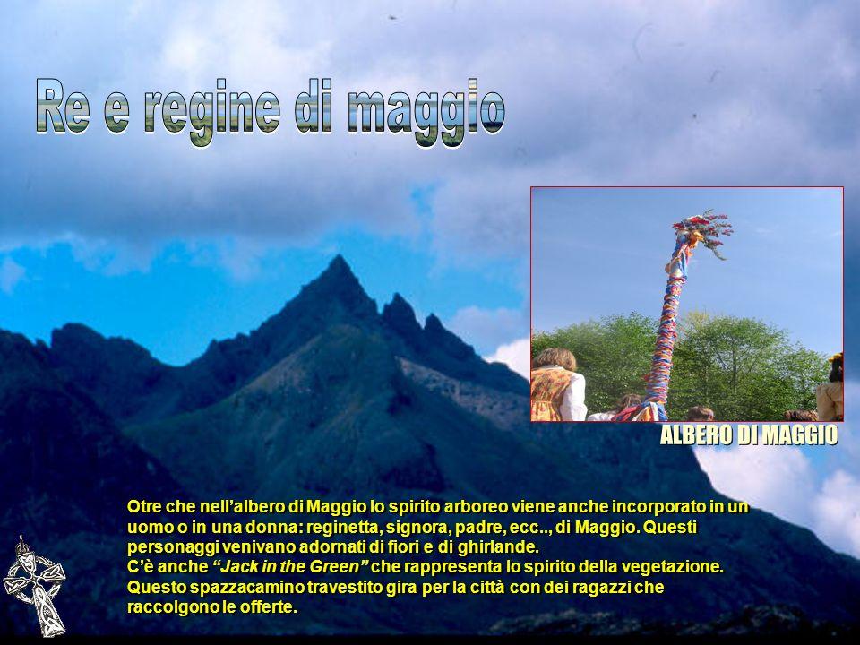 Otre che nellalbero di Maggio lo spirito arboreo viene anche incorporato in un uomo o in una donna: reginetta, signora, padre, ecc.., di Maggio. Quest