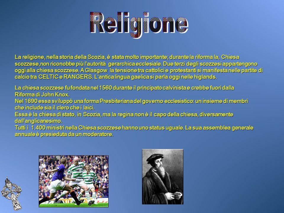 La religione, nella storia della Scozia, è stata molto importante; durante la riforma la, Chiesa scozzese,non riconobbe più lautorità gerarchica eccle