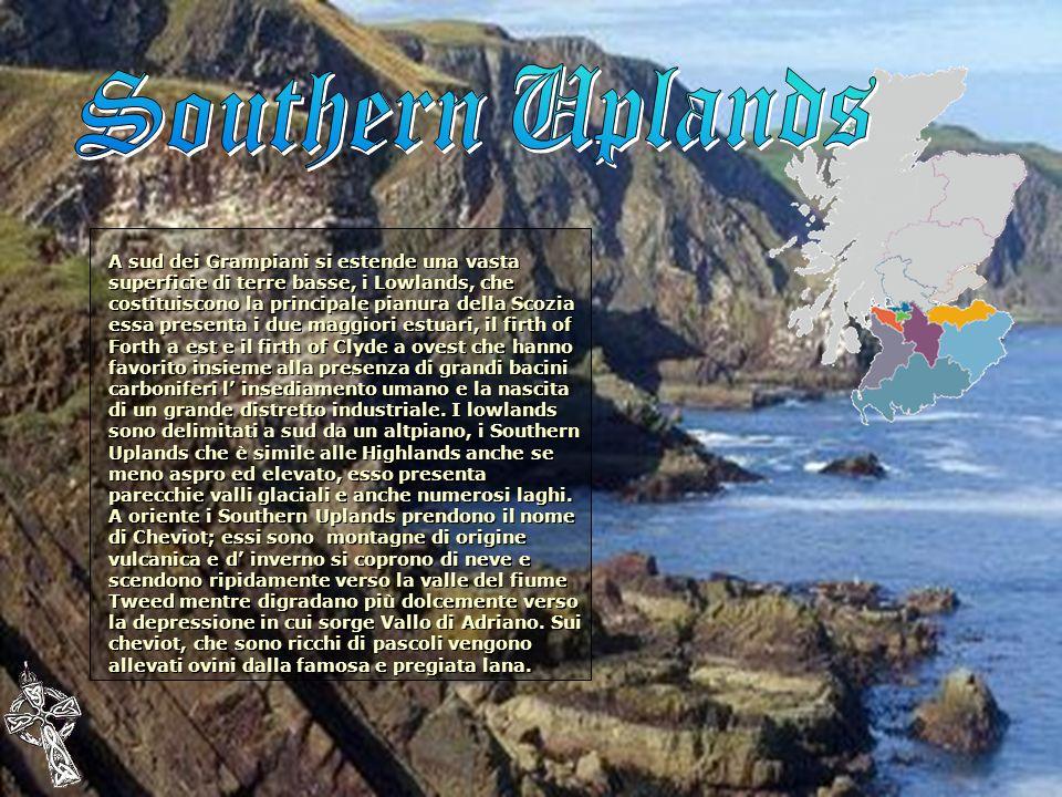 A sud dei Grampiani si estende una vasta superficie di terre basse, i Lowlands, che costituiscono la principale pianura della Scozia essa presenta i d