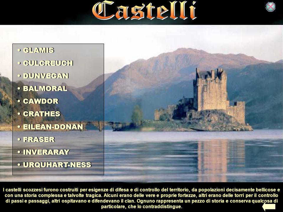 I castelli scozzesi furono costruiti per esigenze di difesa e di controllo del territorio, da popolazioni decisamente bellicose e con una storia compl