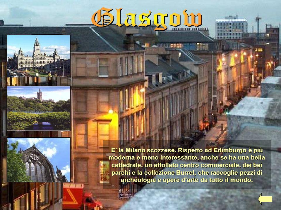 E la Milano scozzese. Rispetto ad Edimburgo è più moderna e meno interessante, anche se ha una bella cattedrale, un affollato centro commerciale, dei