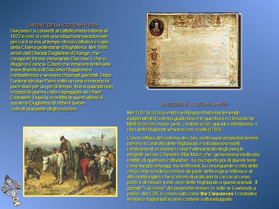 UNIONE DELLA CORONA (1603) Giacomo I si convertì al cattolicesimo intorno al 1672 e così si creò una situazione paradossale per cui il re era al tempo