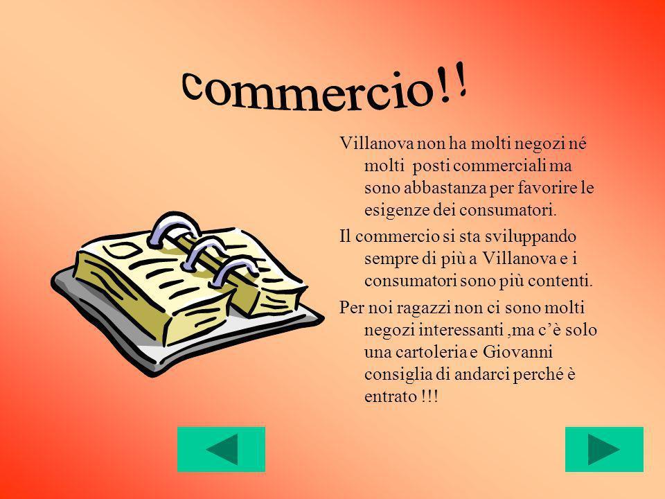 Villanova non ha molti negozi né molti posti commerciali ma sono abbastanza per favorire le esigenze dei consumatori.