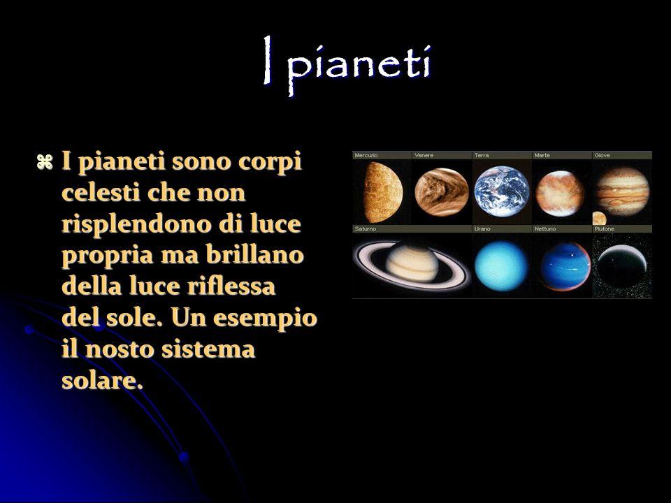I pianeti I pianeti I pianeti sono corpi celesti che non risplendono di luce propria ma brillano della luce riflessa del sole. Un esempio il nosto sis