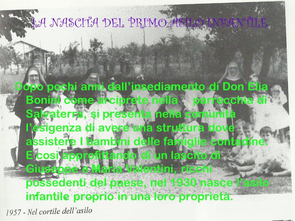 Dopo pochi anni dallinsediamento di Don Elia Bonini come arciprete nella parrocchia di Salvaterra, si presenta nella comunità lesigenza di avere una s