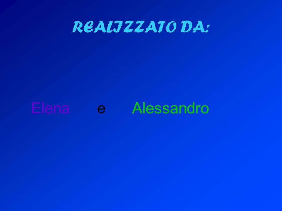 REALIZZATO DA: Elena e Alessandro