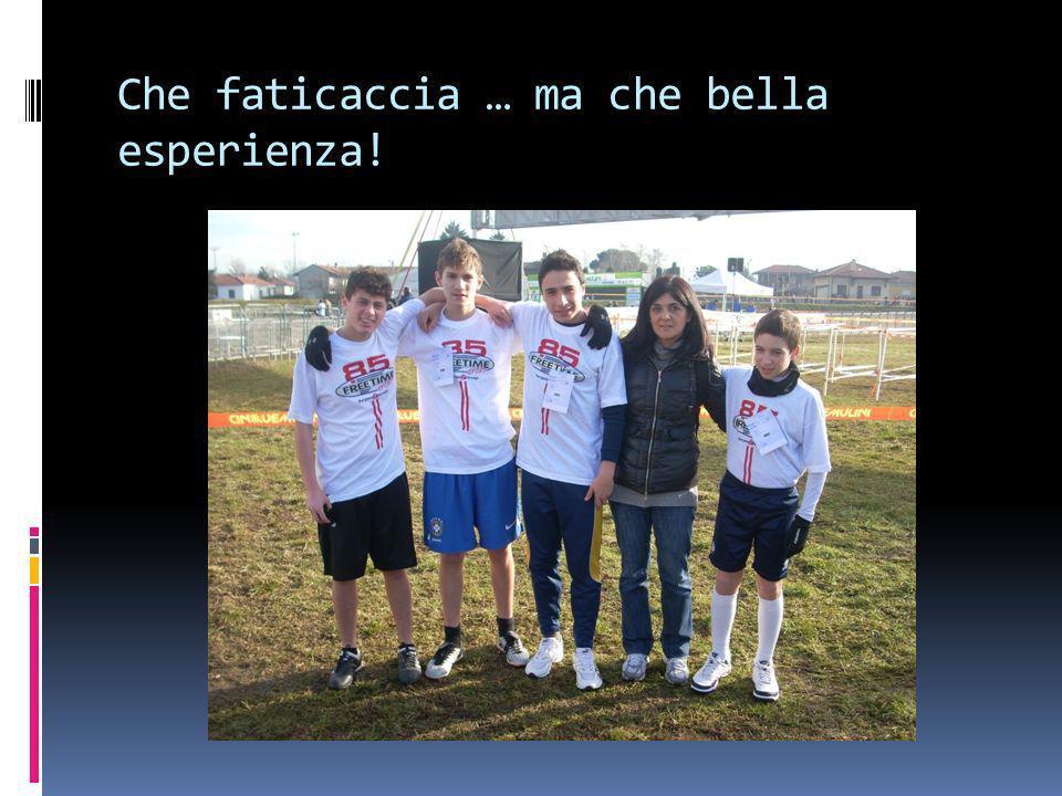 Novembre 2010 Ci iscriviamo al Trofeo M Negri … Anche questa è una nuova esperienza.