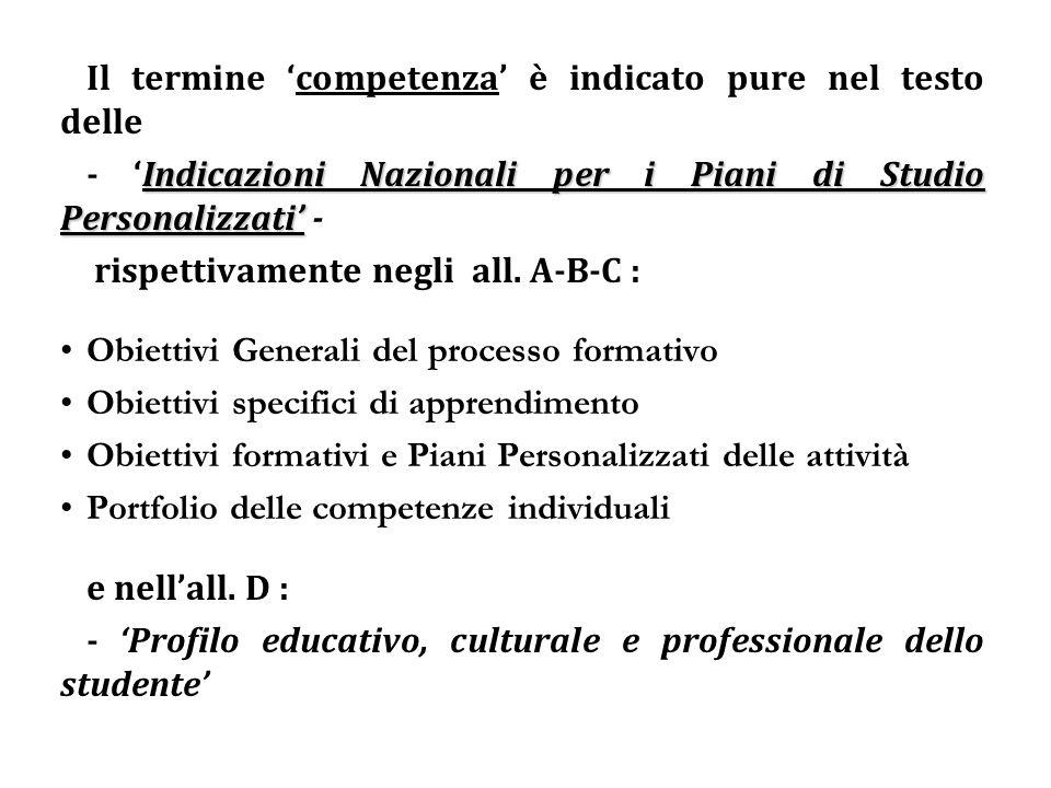 Il Piano di Studio Personalizzato delle attività educative (P.S.P).