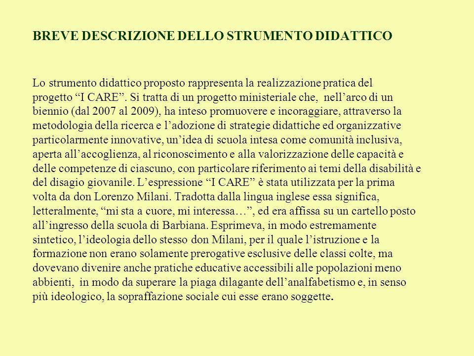 2.ESECUZIONE PRATICA (aprile 2008 – aprile 2009) 1.