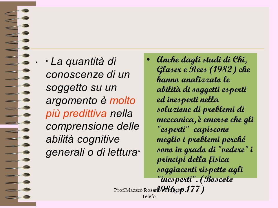 Prof.Mazzeo Rosario - Progetto Telefo Atteggiamento e comprensione Quando i contenuti di un testo sono pochi informativi e in accordo con l'atteggiame