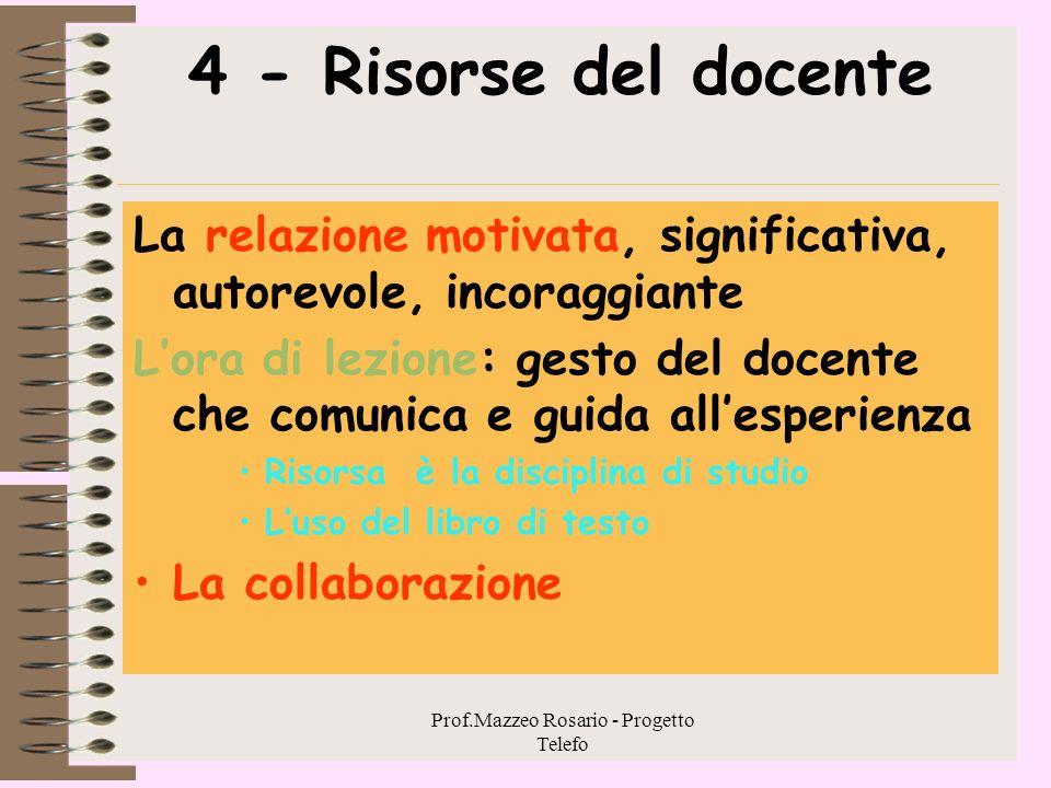 Prof.Mazzeo Rosario - Progetto Telefo 3.4.-
