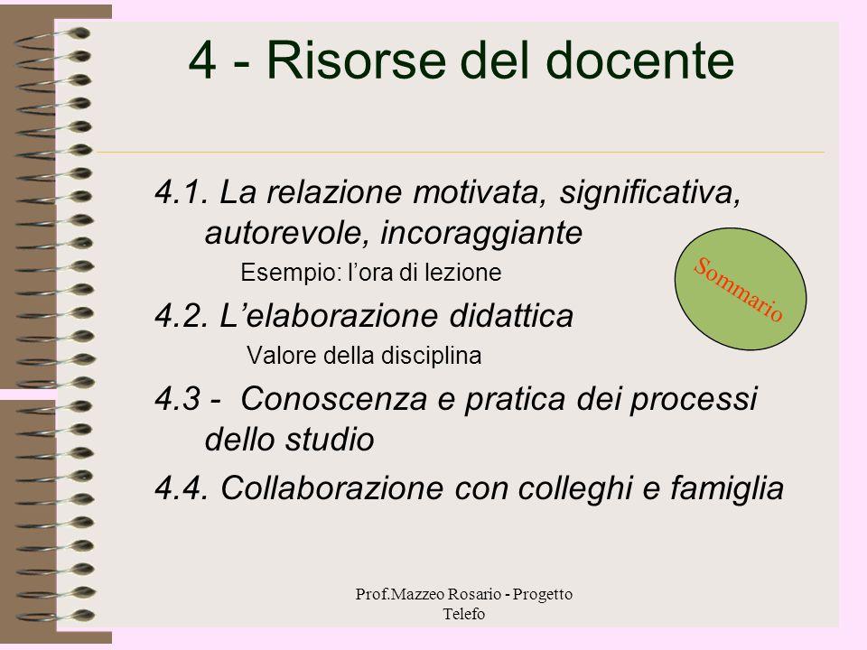 Prof.Mazzeo Rosario - Progetto Telefo 3- Educare&insegnare a comprendere 3.1 - Il comprendere un processo profondamente personale 3.2 - Il comprendere
