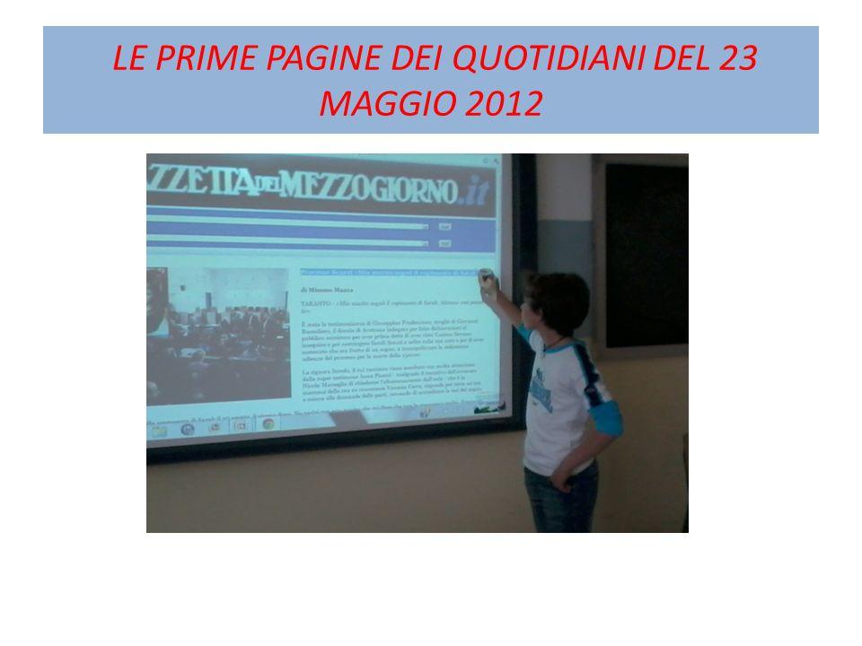 LE PRIME PAGINE DEI QUOTIDIANI DEL 23 MAGGIO 2012
