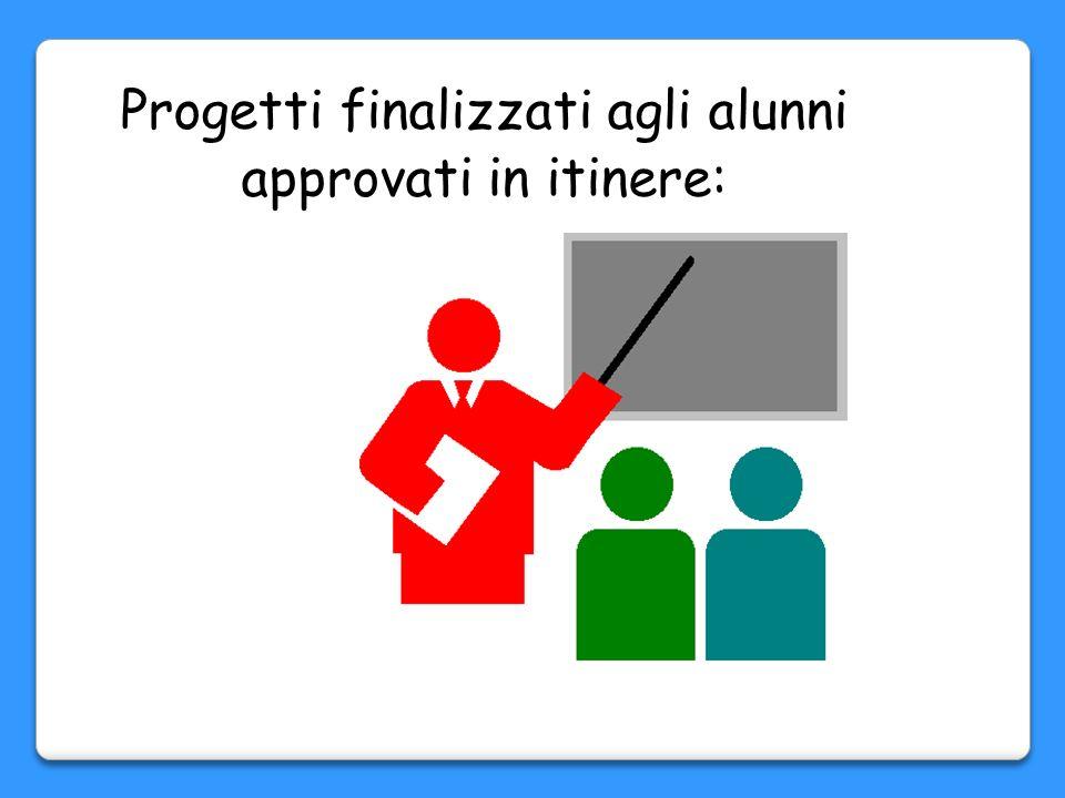 Progetti rivolti agli alunni: Percorso di italiano: linguaggio giornalistico Percorso di italiano: teatro Percorso di matematica: un mondo di logica P