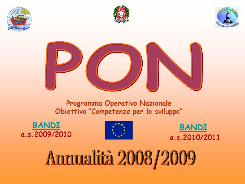 Programma Operativo Nazionale Obiettivo Competenze per lo sviluppo BANDI BANDI a.s.2009/2010 BANDI a.s.2010/2011