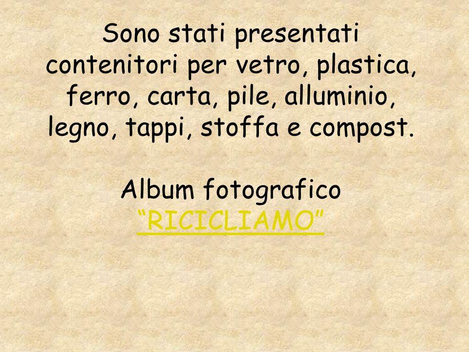 Finita la presentazione è apparsa la parola RICICLIAMO