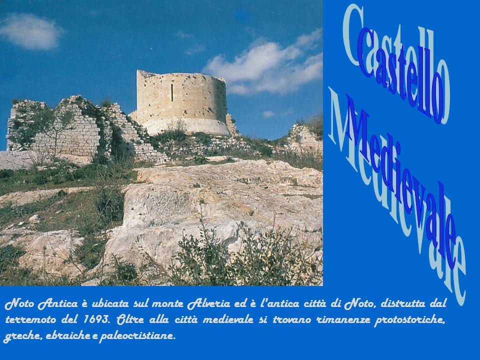 Noto Antica è ubicata sul monte Alveria ed è l'antica città di Noto, distrutta dal terremoto del 1693. Oltre alla città medievale si trovano rimanenze