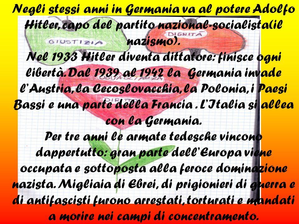 Nel 1943 le fortune della Germania cominciano a diminuire;in Italia alcuni si ribellano ai fascisti e ai nazisti.