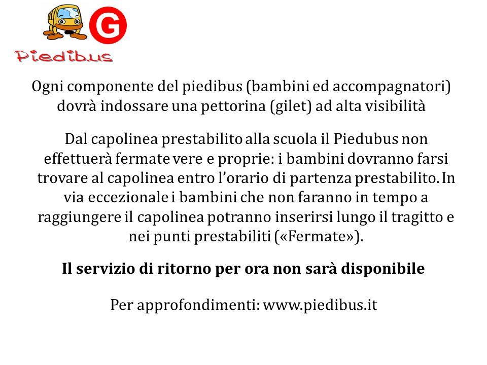 Ogni Linea Piedibus per funzionare dal Lunedì al Venerdì richiede da un minimo di 5 a un massimo di 10 accompagnatori in quanto ogni viaggio richiede 2 accompagnatori adulti (1 autista ed 1 controllore).