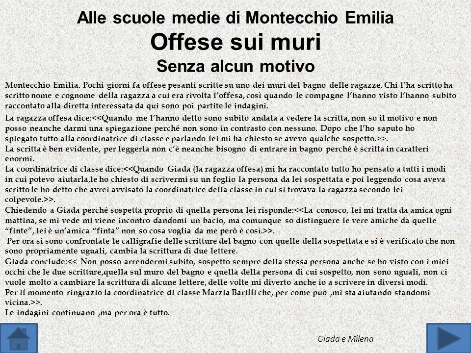 Il 7 Maggio, le classi 2°A,2°D,3°C e 3°A dell istituto comprensivo di Montecchio Emilia Jacopo Zannoni sono partiti dal Palazzetto dello Sport alle 7: