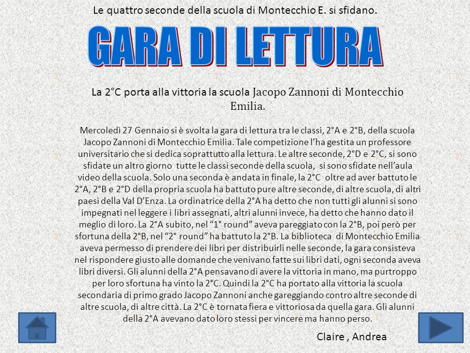 Le quattro seconde della scuola di Montecchio E.si sfidano.