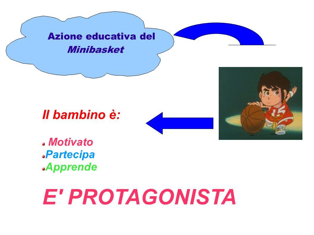 Azione educativa del Minibasket Il bambino è: Motivato Partecipa Apprende E' PROTAGONISTA