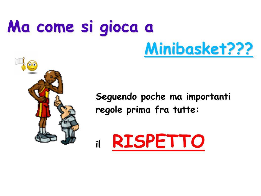 Ma come si gioca a Minibasket??? Minibasket??? Seguendo poche ma importanti regole prima fra tutte: il RISPETTO