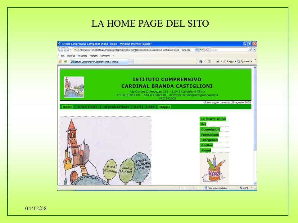 04/12/08 LA HOME PAGE DEL SITO