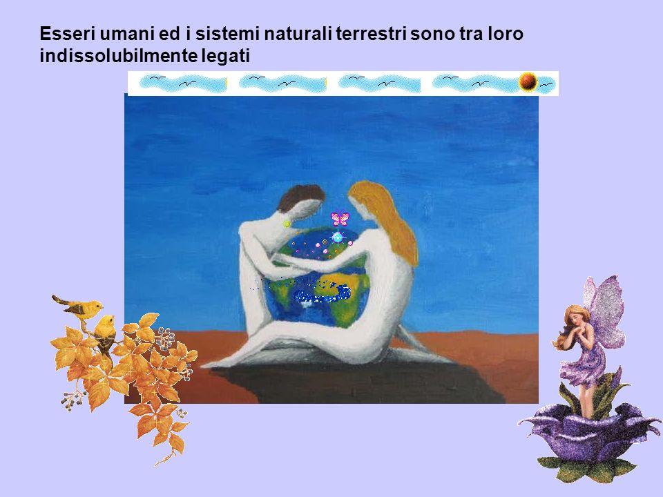 Esseri umani ed i sistemi naturali terrestri sono tra loro indissolubilmente legati