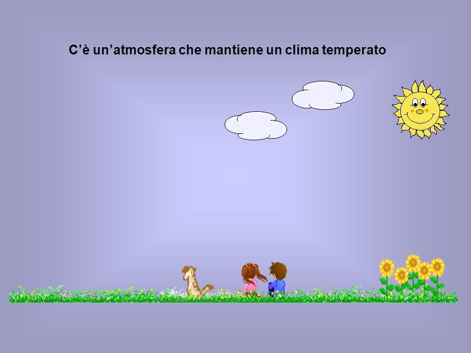Cè unatmosfera che mantiene un clima temperato