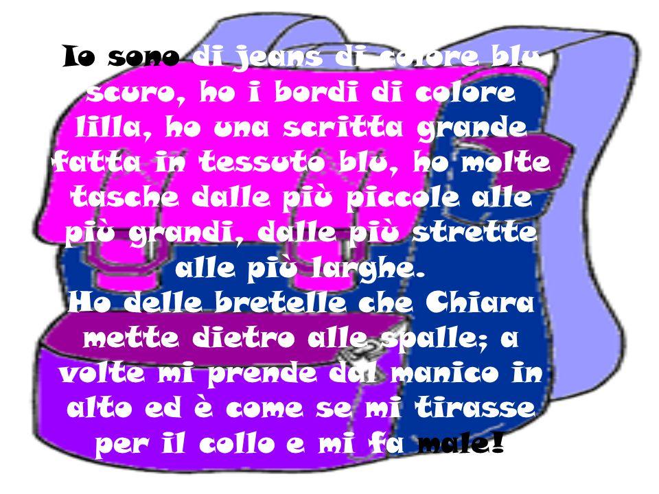 ha avuto un altro zaino che ora è morto a causa della sua coniglietta Nuvola che lo ha rosicchiato perché Chiara, per sbaglio, laveva appoggiato per terra.