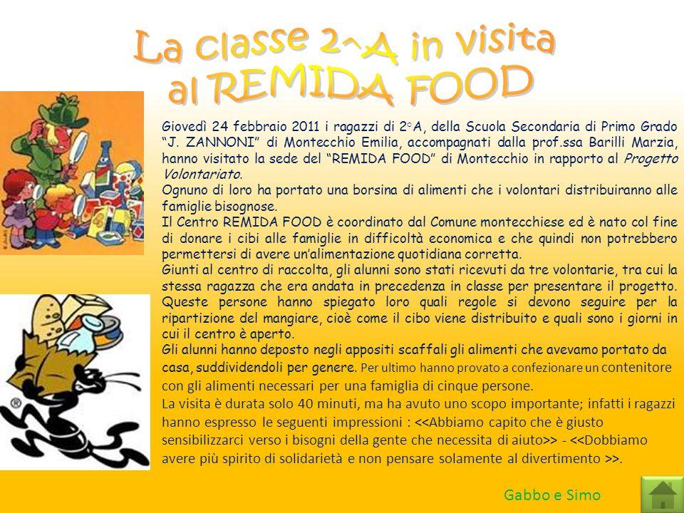 Giovedì 24 febbraio 2011 i ragazzi di 2°A, della Scuola Secondaria di Primo Grado J. ZANNONI di Montecchio Emilia, accompagnati dalla prof.ssa Barilli