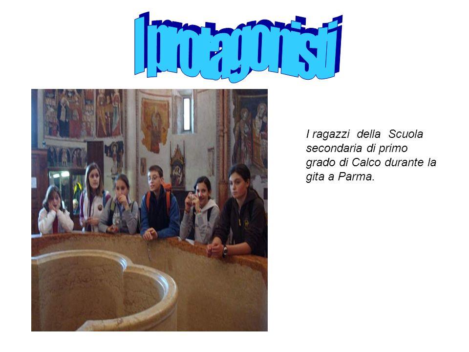 I ragazzi della Scuola secondaria di primo grado di Calco durante la gita a Parma.