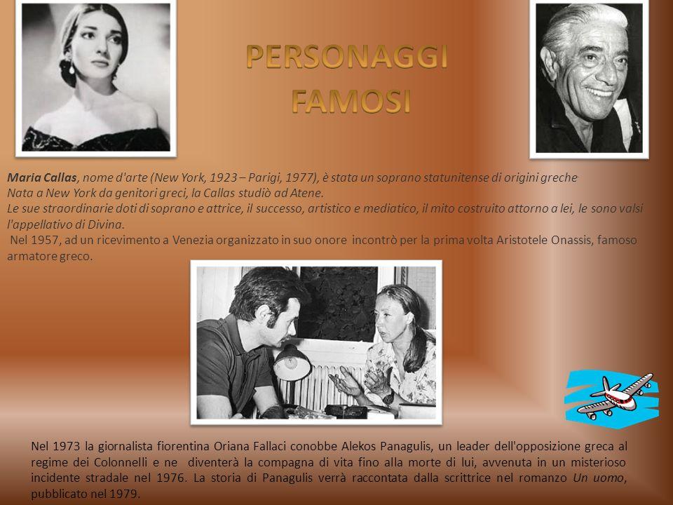 Maria Callas, nome d'arte (New York, 1923 – Parigi, 1977), è stata un soprano statunitense di origini greche. Nata a New York da genitori greci, la Ca