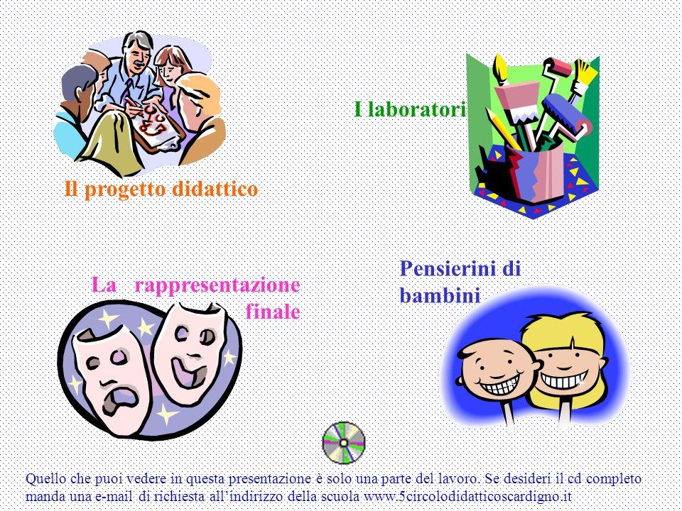 Il progetto didattico I laboratori La rappresentazione finale Pensierini di bambini Quello che puoi vedere in questa presentazione è solo una parte de