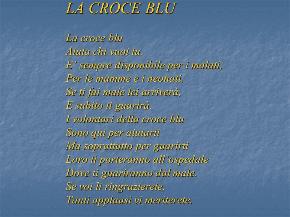 LA CROCE BLU La croce blu Aiuta chi vuoi tu.
