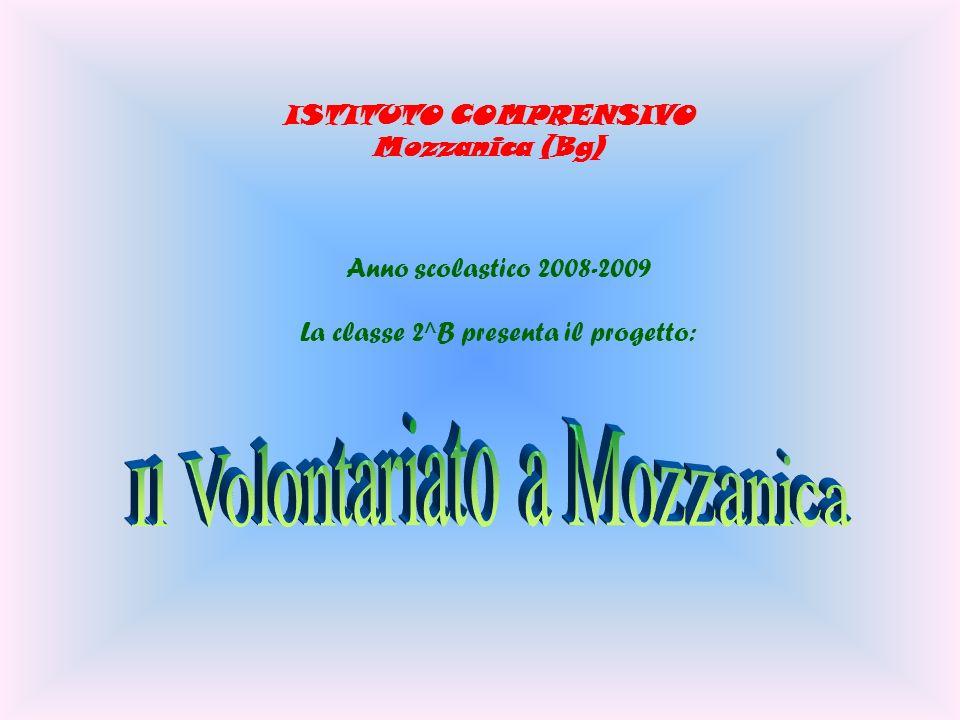 ISTITUTO COMPRENSIVO Mozzanica (Bg) Anno scolastico 2008-2009 La classe 2^B presenta il progetto:
