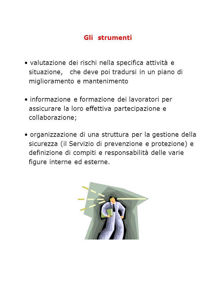 Le norme di riferimento DPR 547/55 (prevenzione infortuni) DPR 303/56 (igiene del lavoro)prevenzione oggettiva, affidata essenzialmente ad interventi