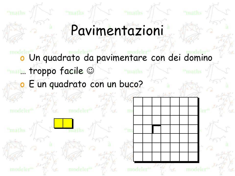 Pavimentazioni oUn quadrato da pavimentare con dei domino … troppo facile oE un quadrato con un buco