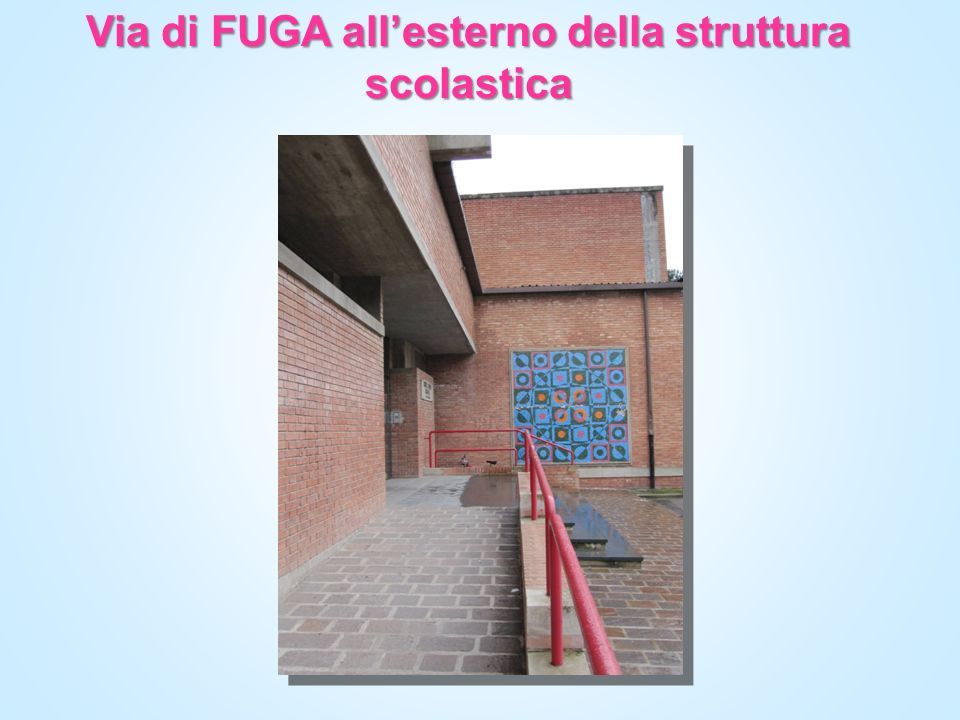 Via di FUGA allesterno della struttura scolastica