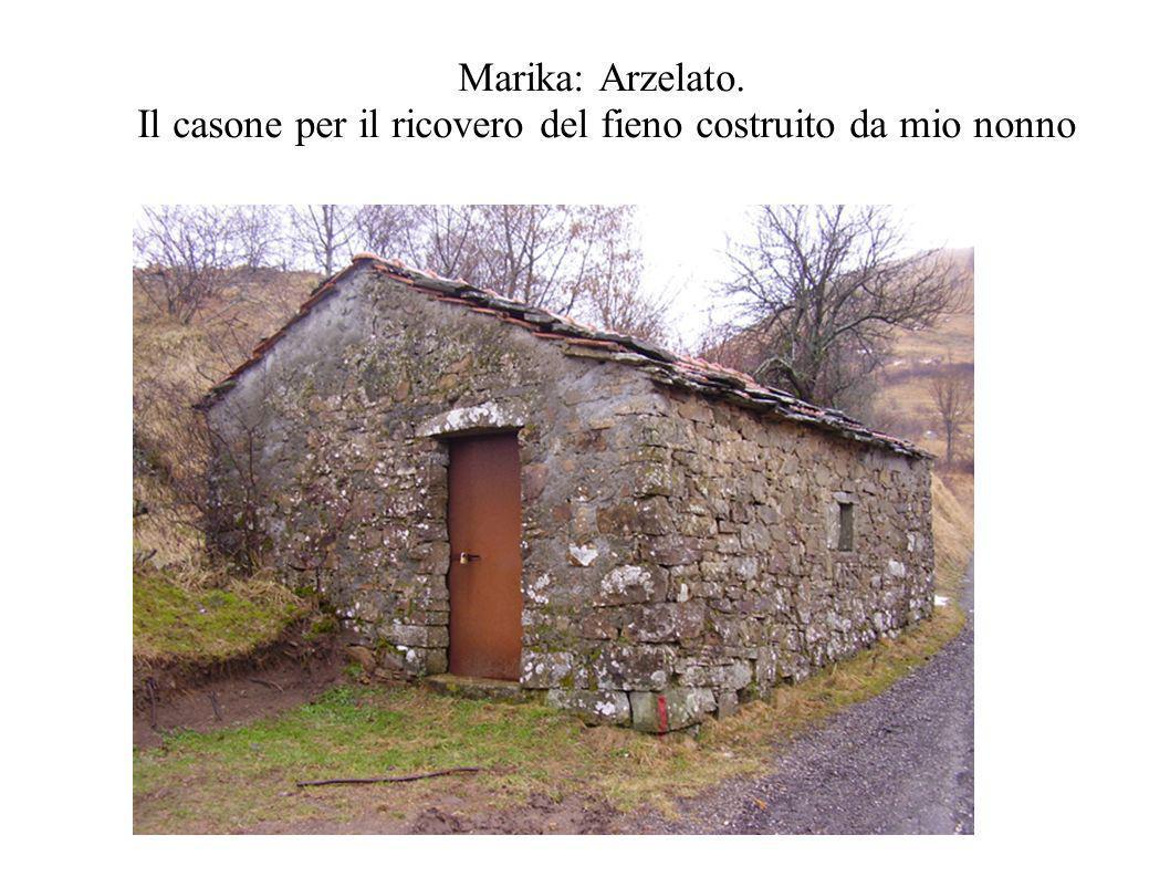 Marika: Arzelato. Il casone per il ricovero del fieno costruito da mio nonno