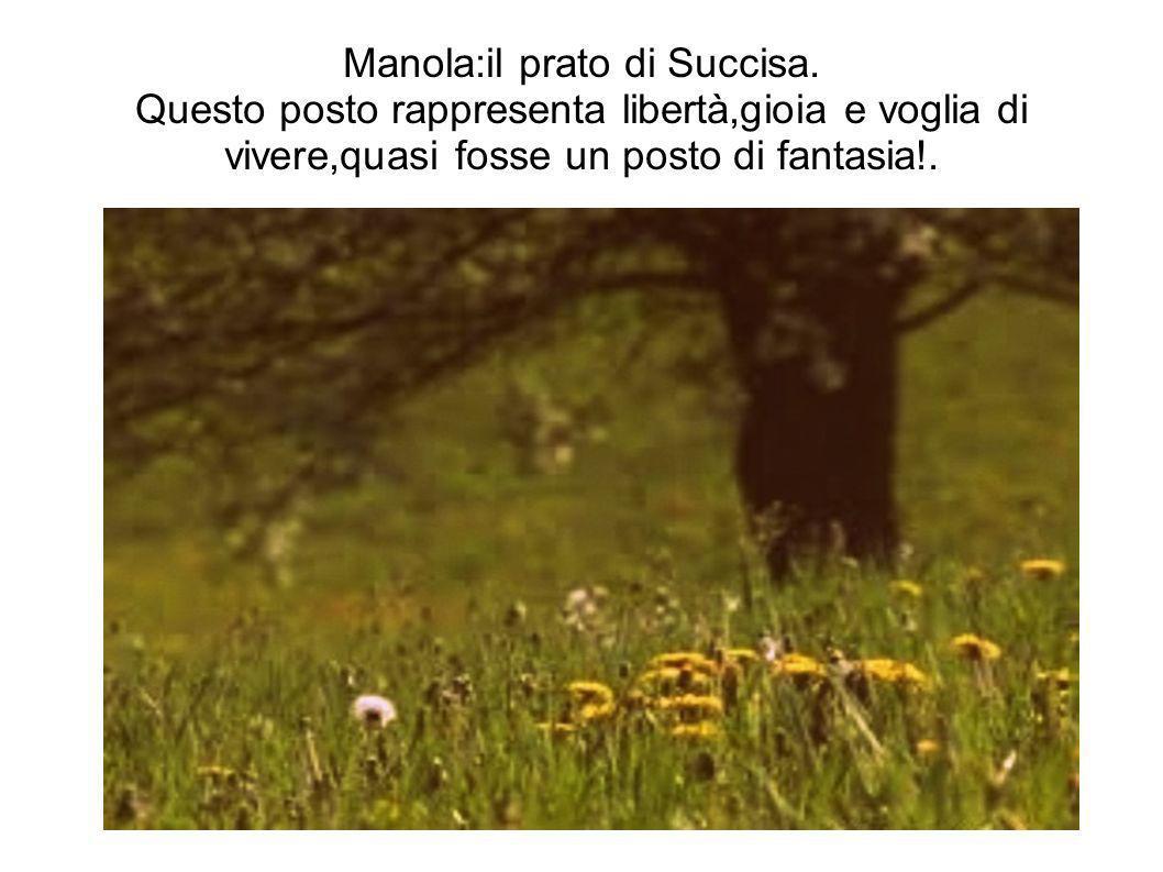 Manola:il prato di Succisa. Questo posto rappresenta libertà,gioia e voglia di vivere,quasi fosse un posto di fantasia!.