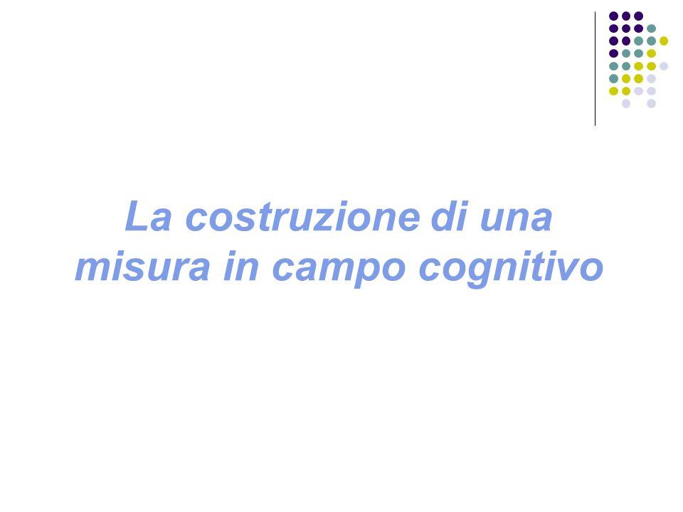 I quattro passi nella costruzione di una prova oggettiva 1.La mappa concettuale 2.La formulazione delle domande 3.Lo spazio degli esiti 4.Il modello di misura