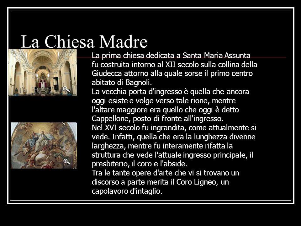 La Chiesa Madre La prima chiesa dedicata a Santa Maria Assunta fu costruita intorno al XII secolo sulla collina della Giudecca attorno alla quale sors